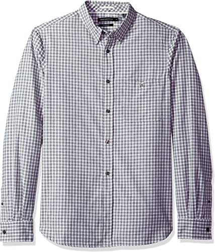French Connection Hommes's Hornblendite Grindle Check Shirt, Forest, XL
