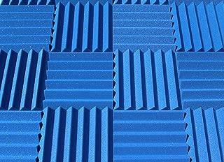 "Soundproofing Acoustic Studio Foam - Blue Color - Wedge Style Panels 12""x12""x2"" Tiles - 4 Pack"
