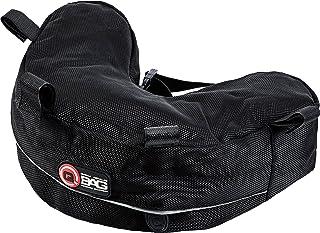 QBag Hecktasche Motorrad Motorradtasche Gepäckträgertasche für BMW R 1200 GS 04 12, spezielle Form, gepolsterte Unterseite, reflektierende Keder, Schwarz, 2,5 Liter