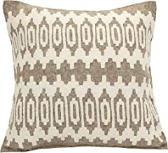 Arcadia Home Hand Felted Wool Pillow-Scandinavian Sweater Design on Gray-20 Decorative Pillow, Gray