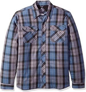 Men's Modern Fit Snap Front Shirt Jacket