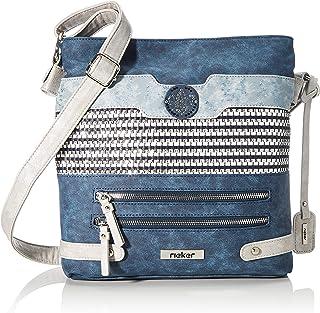 Rieker Handtasche, Sac main Femme, Bleu (baltik/Navy-Ice), 280x60x280 centimeters (B x H x T)