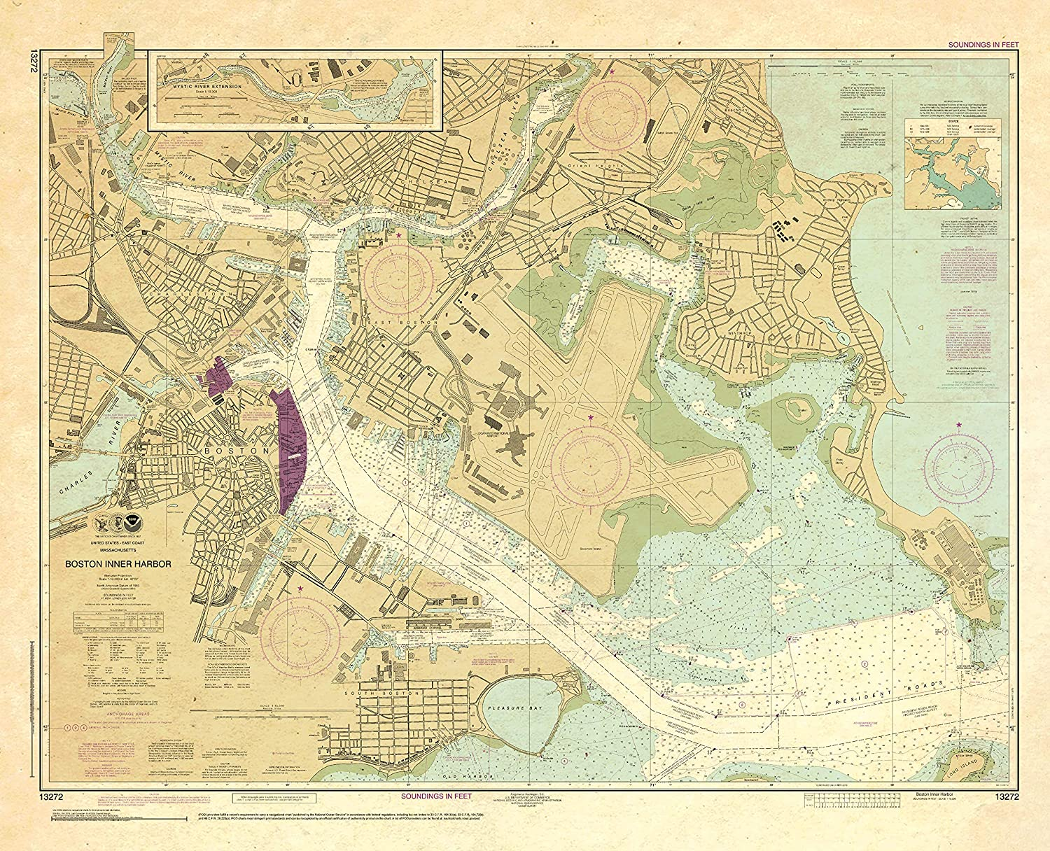 Paradise Cay Publications NOAA Chart Excellent Harbor Inner 13272: Large-scale sale Boston