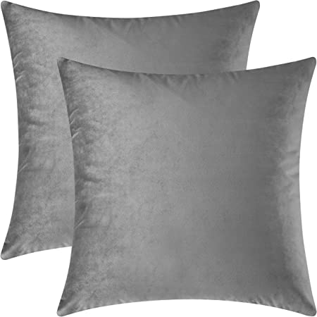 Cushion COVERS Borden 2er set digital printing colour grey with zip
