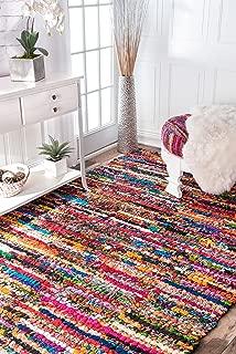 nuLOOM Michiko Braided Chindi Cotton Area Rug, 4' x 6', Multi