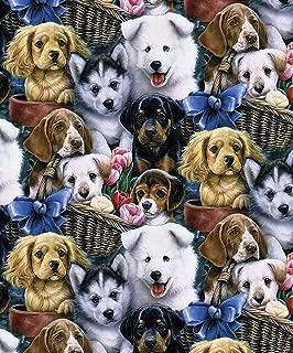 Best dog print cotton fabric Reviews