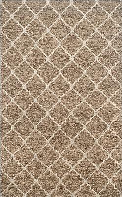 Martha Stewart Safavieh Collection MSR2559A Premium Wool Beige and Ivory Area Rug (5' x 8')