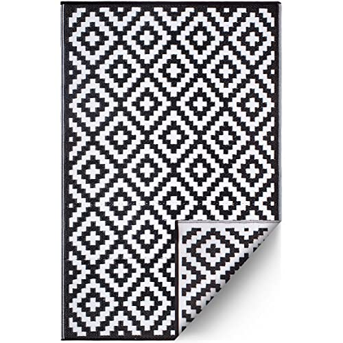 Black and White Outdoor Rugs: Amazon.com