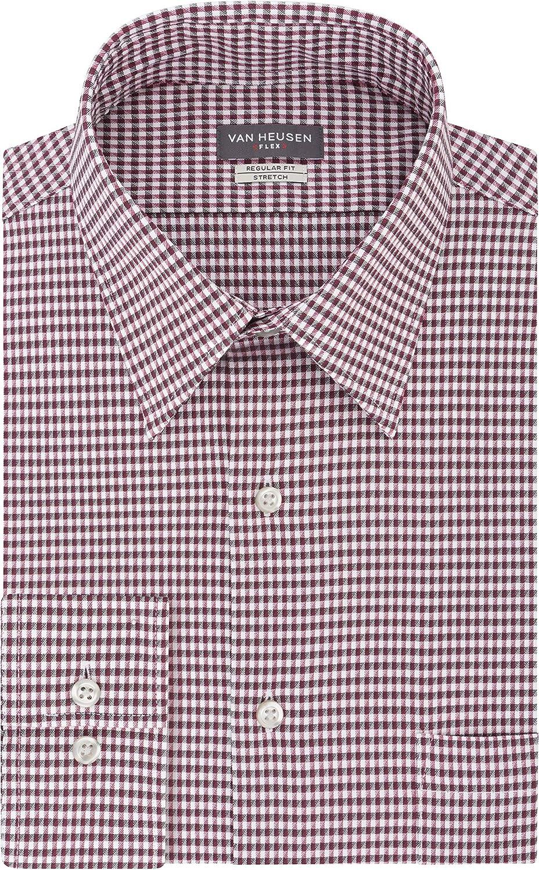 Direct store Excellence Van Heusen Men's Dress Shirt Regular Flex Fit Stretch Che Collar