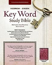 The Hebrew-Greek Key Word Study Bible: CSB Edition, Burgundy Bonded (Key Word Study Bibles)