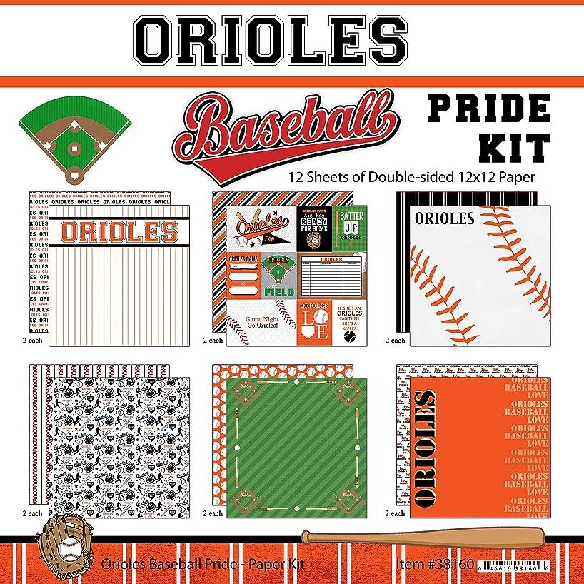Scrapbook Customs Orioles Pride Baseball Scrapbook Kit