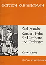 Clarinet Concerto in F Major By Carl [ Karl ] Stamitz. For Clarinet, Piano. Sheet Music.