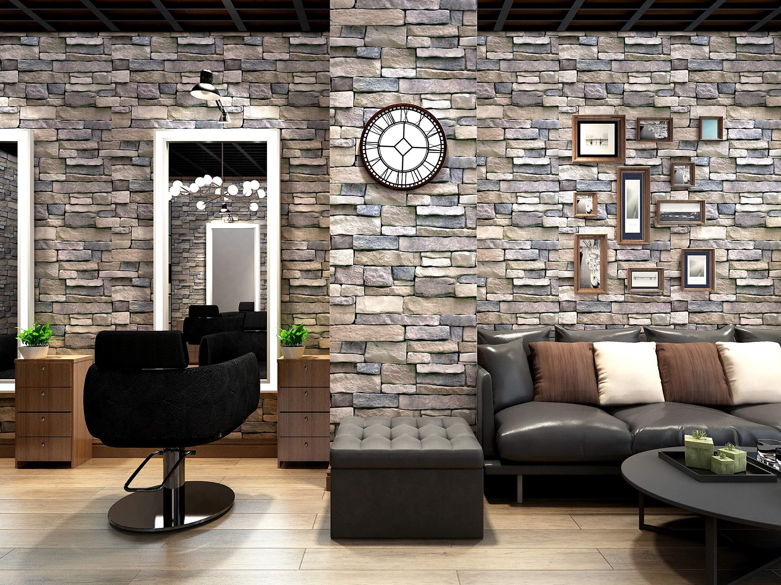 Amazon Homya 壁紙シール 45cmx10m レンガ調シール リメイクシート はがせる壁紙 接着剤不要 Diyシート 防水 防カビ ウォールステッカー 壁紙