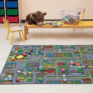 Carpet Studio Alfombra Infantil Suave al Tacto para Niño y Niña, Respaldo de látex Antideslizante, Fácil de Mantener, Sin peligro para niños y animales, Playcity, 140x200cm