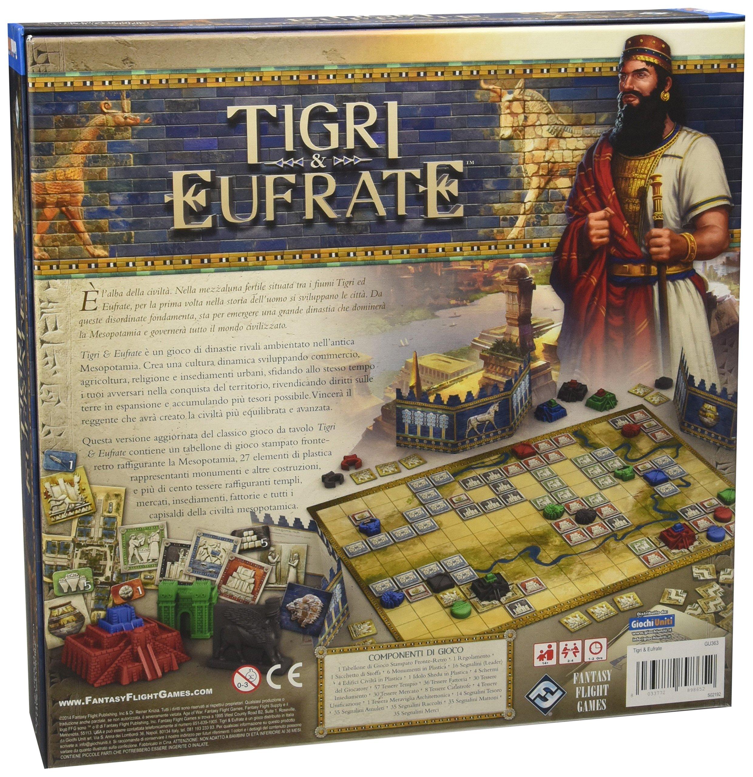 Giochi Uniti GU363 Tigri et Eufrate - Juego de Mesa: Amazon.es: Juguetes y juegos