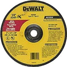 DEWALT DW4949 9-Inch X 1/4-Inch X 7/8-Inch Metal General Purpose Grinding Wheel