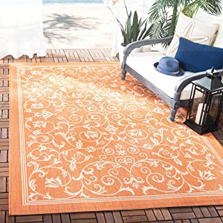 Safavieh Courtyard Collection CY2098-3202 Terracotta and Natural Indoor/ Outdoor Area Rug (5'3