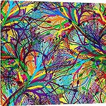 IslamicArtPoint Abstract Wall Art-Square (Rainbow)