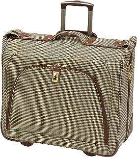 London Fog Cambridge 44 Inch Wheeled Garment Bag, Olive (Brown) - 8844