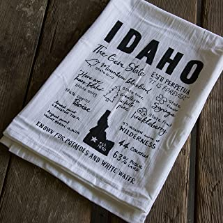 Idaho facts towel Screen Printed Tea Towel, flour sack towel