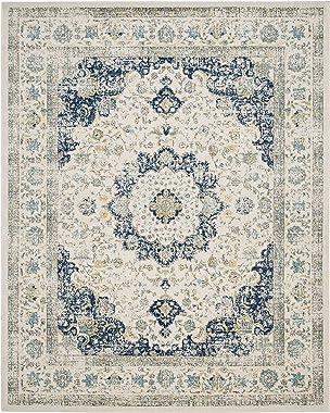 Safavieh Evoke Collection EVK220C Shabby Chic Vintage Oriental Area Rug, 8' x 10', Ivory/Blue