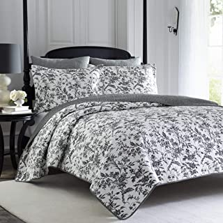 Laura Ashley Home   Amberley Collection   Luxury Premium Ultra Soft Quilt Coverlet, Comfortable 2 Piece Bedding Set, All S...
