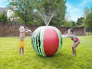 Wet N' Wild Mega Melon Sprinkler Ball Over 3 FT Tall Sprinkler Ball for Kids Outdoor Play - Biodegradable PVC