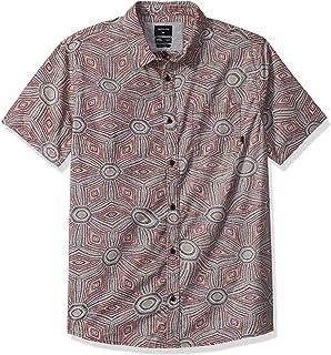 قميص Quiksilver رجالي TAMARAMA قصير الأكمام منسوج عادي