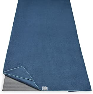 "Gaiam Stay Put Yoga Towel Mat Size Yoga Mat Towel (Fits Over Standard Size Yoga Mat - 68"" L x 24"" W)"