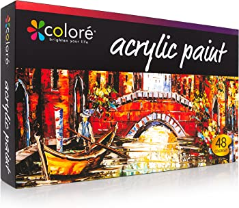 48 Pack Colore Vibrant Life Acrylic Paint Set