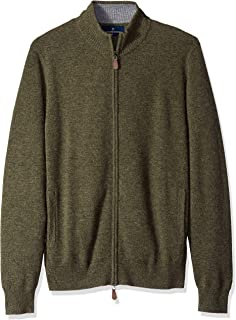 Buttoned Down Mens MBD35004 100% Cashmere Full-Zip Sweater Sweater