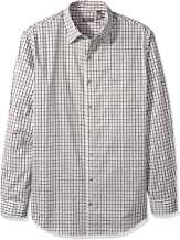 Van Heusen Men's Big and Tall Traveler Stretch Long Sleeve Button Down Black/Khaki/Grey Shirt