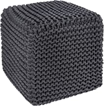 REDEARTH Cube Pouf Ottoman -Poof Pouffe Accent Chair Square Seat Footrest for Living..