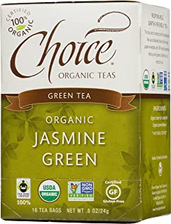 Choice Organic Teas Green Tea, 16 Tea Bags, Jasmine Green