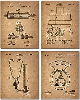 Nurse Patent Prints - Set of 4 Vintage Wall Art Photos