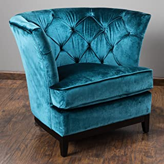 Christopher Knight Home Princeville Tufted KD Chair, Blue