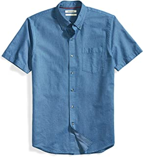 Amazon Brand - Goodthreads Men's Slim-Fit Short-Sleeve Solid Oxford Shirt