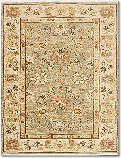 4x6 Casanova Beige, Light green Hand Knotted Persian Design Oriental ...
