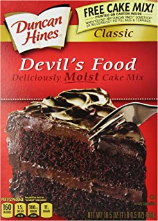 Duncan Hines Devils Food Cake Mix, 16.5 Ounce (Pack of 12)