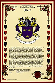 Ward Coat of Arms/Crest and Family Name History, meaning & origin plus Genealogy/Family Tree Research aid to help find clues to ancestry, roots, namesakes and ancestors plus many other surnames at the Historical Research Center Store