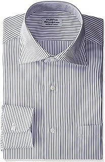 (フェアファクス) FAIRFAX(フェアファクス) 形態安定加工ストライプワイドカラーシャツ 7150 18 ネイビー
