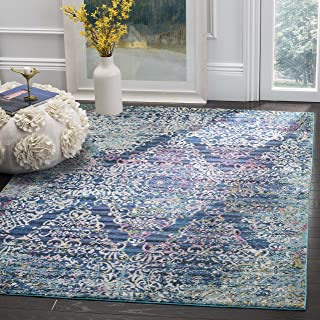 Safavieh Aria Collection Abstract Area Rug, 9' x 12', Blue/Multi