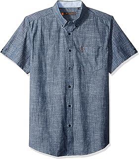 Ben Sherman Men's Ss Slub Chambray Shirt