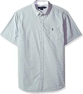U.S. Polo Assn. Men's Short Sleeve Classic Fit Fancy Shirt