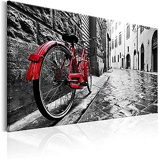 murando - Cuadro en Lienzo sintético 120x80 cm - Vintage Cuadro de Pared impresión artística fotografía Imagen gráfica decoración Bicicleta d-B-0080-b-b