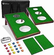 GoSports BattleChip Versus Golf Game | Includes Two 3' x 2' Targets, 16 Foam Balls, 2 Hitting Mats, Scorecard and Carrying Case