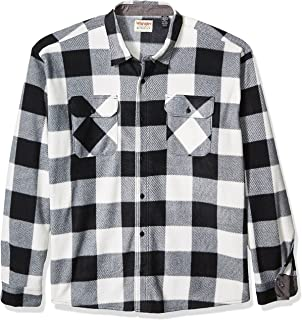 Authentics Men's Long Sleeve Plaid Fleece Shirt, Birch...