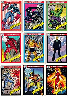 MARVEL UNIVERSE 1 1990 IMPEL COMPLETE BASE CARD SET OF 162
