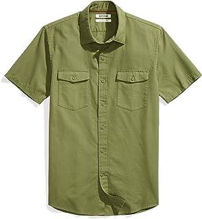 Amazon Brand - Goodthreads Men's Slim-Fit Short-Sleeve Ripstop Dobby Shirt