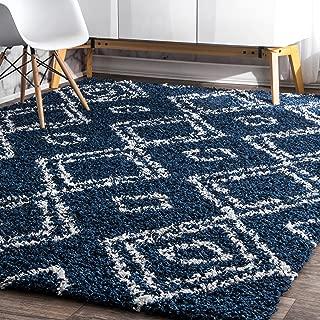 nuLOOM Iola Soft & Plush Shag Rug, 4' X 6', Blue